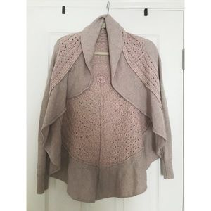Anthropologie, knitted & knotted cardigan sweater